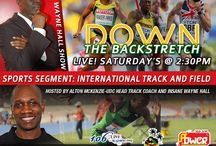 """The Wayne Hall Show (LIVE) - 1:00pm – 4:00pm (SPECIAL SHOW) / Listen to Down The Backstretch This and every Saturday at 2:30 PM with Alton McKenzie """"AM in The PM"""" and Insane Wayne L Hall on The Wayne Hall Show as we look at international track and field news brought to you by www.c3Designsbiz.com. This Saturday we look back at track and field news in 2013. It will be great!!"""