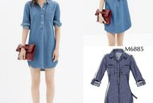Versions of Macalls M6885 shirt dress / Different versions of M6885 for inspiration