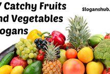 Fruits & Vegetables Slogans
