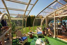 Posuvné zastřešení teras / Posuvné zastřešení teras od výrobce kvalitních zastřešení teras, bazénů a vířivek Alukovu.