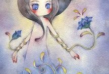 JURI UEDA / Acuarelista,de creaciones de mundos de fantasía. Nacida en Osaka,Japón.
