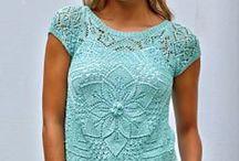 Vzory svetrů - léto