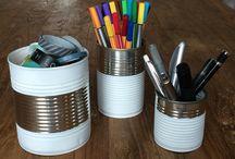 DIY Projekte / Stiftedosen für den Schreibtisch