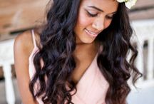 Flowers in her hair / Flower crown & other floral hair inspiration for festival and Boho brides..