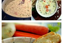 Soups, salads and sandwiches / Yummy soups, salads and sandwiches for lunch or dinner
