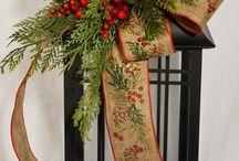 Christmas decor and centerpieces
