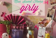 Mon Sweet Home Girly  / Mon Sweet Home Girly, book written by Cecile Boyer aka Poulette Magique. Home decor and girly do it yourself, ideas and girly website