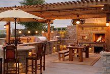 Outdoor kitchen/entertainment area
