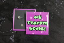 """Now 2"""" Square Buttons Offered...Pin & Magnet Backs"""