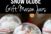 snow globe mason jar topper