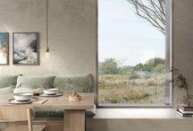 _eetruimte / ideeën voor de eetruimte, gekoppeld aan keuken en wasruimte