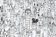 много котов))
