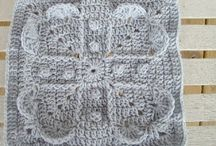 "12"" Crochet Afghan Squares - Free Patterns"