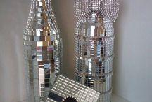 garrafas decoradas com espelhos