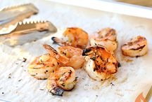 GRILLED SEAFOOD / We love grilling seafood. It makes us feel like we're at the beach