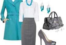 Work outfits - blue