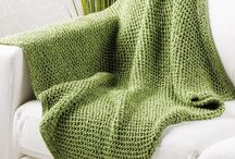 Crochet and knit blankets and throws