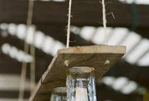 Barattolo di vetro a lampadario