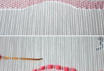 tkané, šité obrazy-koberce