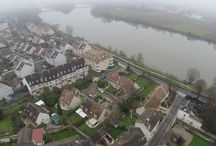 Photos aériennes villes et villages / Prises de vues aériennes réalisées d'un drone