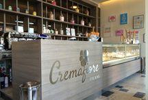 Cremafiore Milano / Cremafiore rappresenta l'eccellenza di due simboli del Made in Italy, il gelato e il caffè, apprezzati in tutto il mondo.