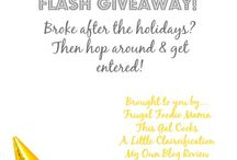 Giveaways! $$$ / Because who doesn't like to win stuff??