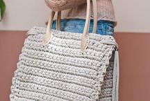 bolsa com fio de malha