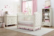 - Tinsley Collection - / A sophisticated nursery collection designed for a princess. Traditional in its design, the Tinsley Collection includes an upholstered 3-in-1 convertible crib, double dresser, dresser topper, chest, nightstand, and bookcase. All pieces are elegantly crafted in an antique white finish.