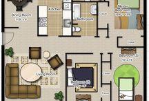 Casa pequena com dois quartos.