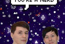 ↝ dan and phil