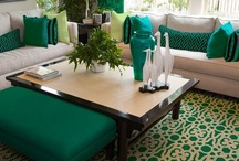 Color Trend: Emerald Green / Chosen as the 2013 Pantone Color of the Year, Emerald Green is hot! This bold hue is being seen everywhere from accessory accents to bright colored upholstered sofas. This fun green tone is a great color, and can match with all sorts of styles from uber modern to classic and traditional!   / by Becker Furniture World