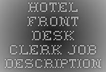 Front Desk Clerk / Front Desk Clerk info...