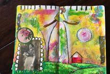 Art Journal Pages / Have a peek inside my art journals
