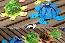 teknős műanyagpalackos