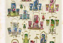 Bohemian glass patterns , glass catalogs