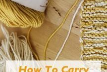 Knitting, crocheting and needlework tips