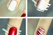 Easy Holiday Nail Design / by Kathy Nguyen