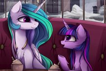 Princesses Celestia and Twilight Sparkle