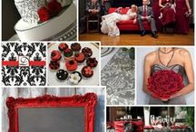 Wedding Party Colors / Red and Gray, Apple and Pewter...