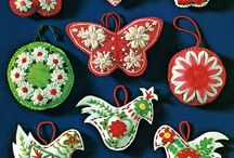 vintage Christmas handmade ornaments