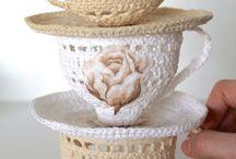 Miniaturas crochet decoración