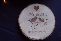 Weddings / Personalised engraved wedding ideas.