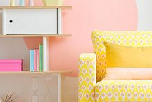 Pastel neon bedroom