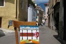 Merano / Dekore die ich in Meran gestaltet habe. Hier hatte ich ein kleines Atelier in der Altstadt.