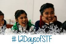 "#12DaysofSTF / Join us in our first-ever social media sing-a-long, as we remaster ""12 Days of Christmas"" to the tune of She's the First, in an effort to sponsor more girls' educations this holiday season. Pin our images to inspire your followers to give! / by She's the First"