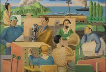 WPA ART / Sculpture/posters/murals/ paintings