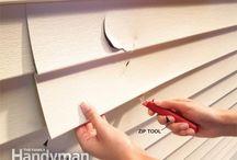 Replace damaged vinyl siding