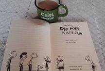 My Insta photos Csitt, kölcsönvettem a fiam könyvét  #mutimitolvasol #currentlyreading #jeffkinney #dairyofawimpykid #egyropinaplója #bookline #bögre #coffee