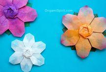 ORIGAMI KUSUDAMAS Flowers / by Helen Conachan