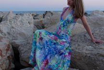 Summer dress / Silk veil dress 113 from Burdastyle 6/2012
